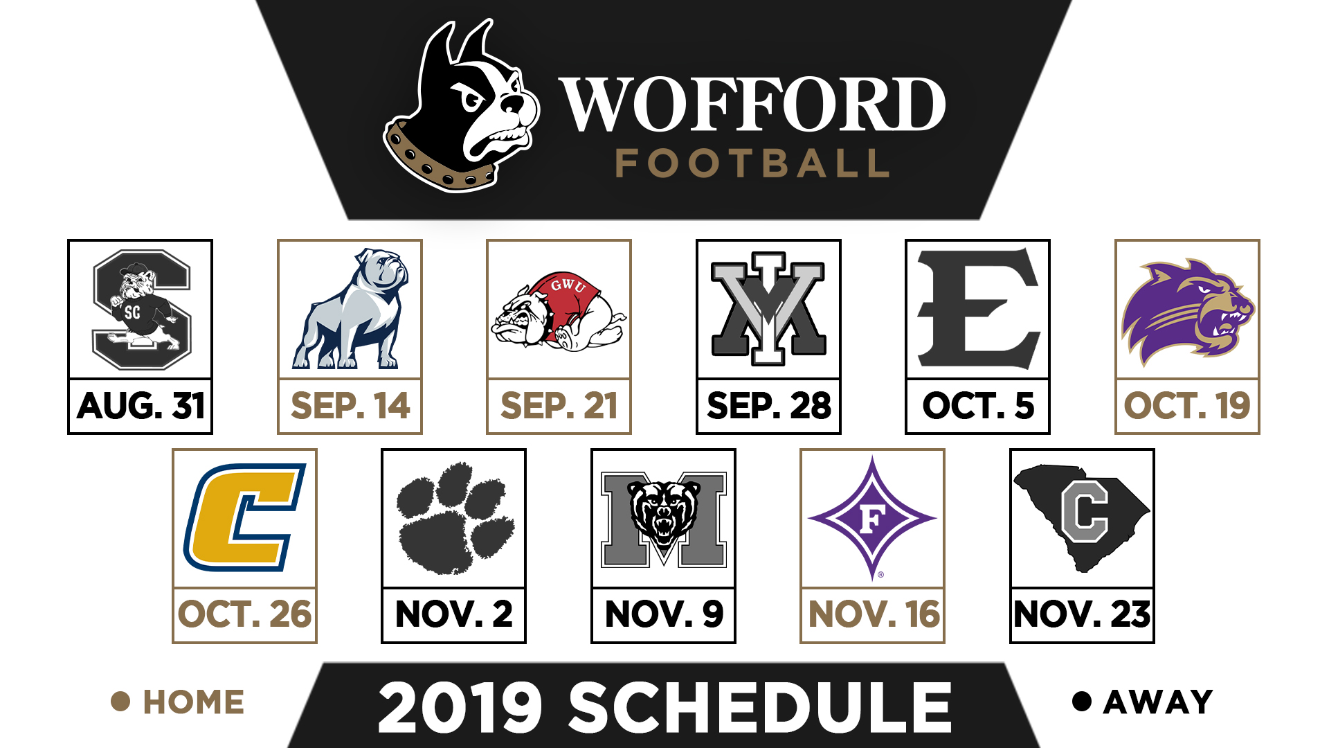 Wofford Announces 2019 Football Schedule Wofford College Athletics