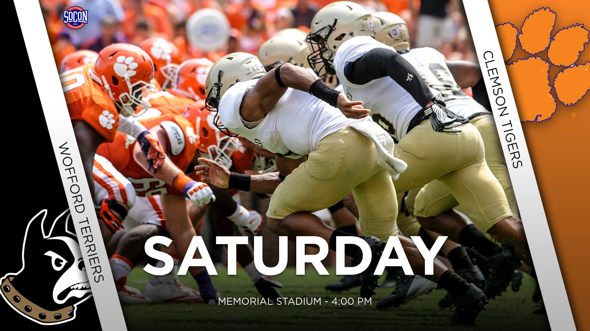 Football Visits Clemson Saturday Wofford College Athletics